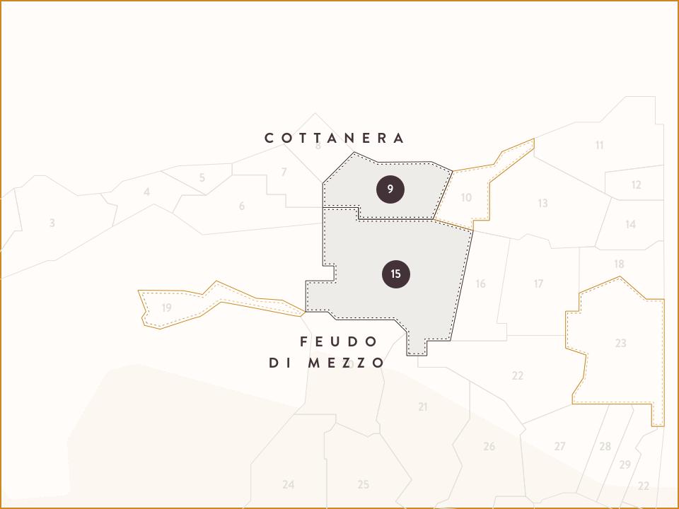 Mappa Cottanera e Feudo di Mezzo